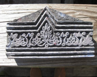 Vintage Hand Carved Wood Stamp Block Made in India