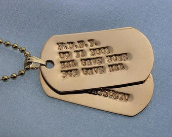 Customized 14k Gold Debossed Military Dog Tag