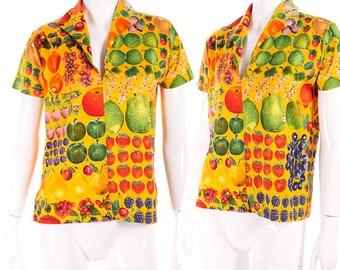 Gucci Vintage 90s Tutti Frutti Print Shirt