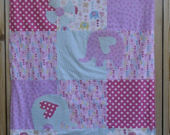 Baby Blanket Pink Elephants