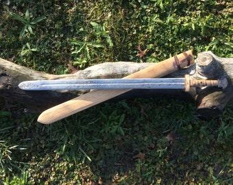 Hand forged viking sword set