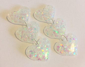 Love Bite Trio Earrings - Iridescent White