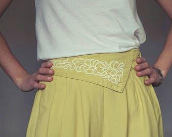 VINTAGE 90's Pants // Elegant pants//Mustard color// XS,S size