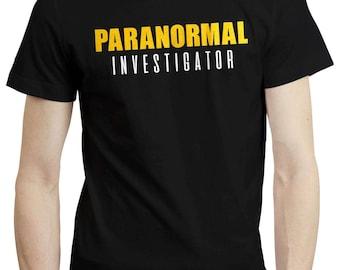 Paranormal Investigator Ghost Hunter Haunted Spirits T shirt Tshirt Tee 200gsm