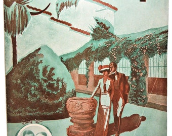 1914 California and You EDGAR LESLIE Vintage Sheet Music!