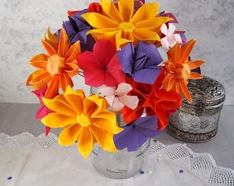 Bespoke Alternative Bridal Paper Flower Bouquet - Wedding bouquet-Bridal Bouquet-Alternative Bouquet-Origami Bouquet-Summer Wedding Flowers