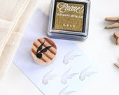 GOLDEN SNITCH stamp with gold INK pad, Harry Potter snitch, Harry Potter party decoration, Harry Potter mini stamp, Harry Potter birthday