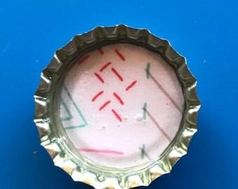 Pastel magnet, Bottle Cap Magnet, Magnets