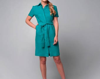 Turquoise dress-shirt