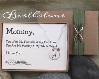 Gifts For Wife Push Present From Baby Mommy Jewelry From Son From Daughter Gifts For Mom From Baby Sterling Silver Birthstone Birthday Day