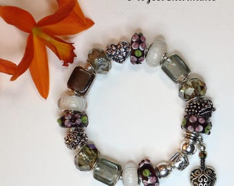 Genuine Pandora Bracelet~GRAPE GARDEN~ European Style Beads/Charms