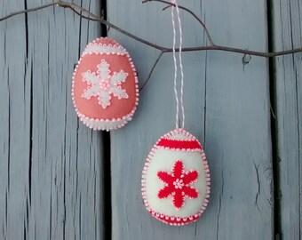 Felt Easter Egg/ Felt Ornament / Easter Decor / Easter Ornament/ Handmade/ Price for One