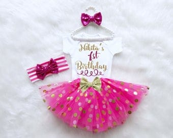 First Birthday Outfit. Baby's First Birthday Outfit. Baby Girl First Birthday Outfit. First Birthday Shirt. Cake Smash Outfit.
