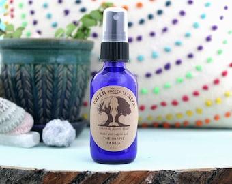 The Hippie Panda -Linen and Room Mist - Room Spray - Linen Spray - Body Mist - 2 oz Cobalt Blue Bottle - Air Mist - Room Deodorizer
