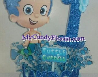 BUBBLE  GUPPIES 3D Centerpiece or Cake Topper! Choose Favorite Character! Great Party Decor & Perfect After Party Keepsake for Little Ones!