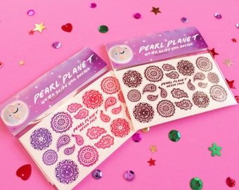 HENNA PACK - Beautiful Henna Water Slide Nail Decals, Choice of Two,  Original Illustration!