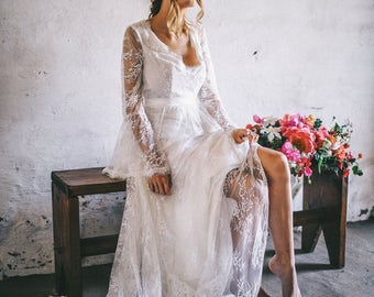 Primrose Gown  / Bohemain Wedding Dress / Lace Bohemian Gown / Boho wedding romantic