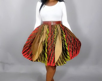 NEW IN African print handmade skirt with side pockets,African clothing,African wax print,Ankara skirts,maxi skirts