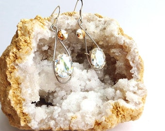 Crystal bridesmaid earrings, bridesmaid gift, Prom earrings, bridesmaid jewelry, crystal jewelry, gift for her, gift for women, wedding gift