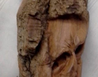 Hand Carved Cottonwood Bark Father & Son Piggy Back Ride Wizards Tree Spirits Wood Carving
