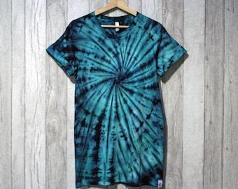 TyreDyes Spiral Tie Dye Tee Green/Black