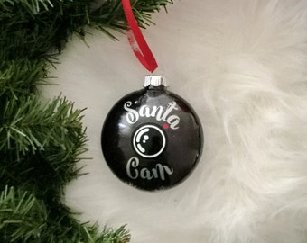 Santa Cam Ornament, Personalized Santa Cam, Santa Spy Cam, Santa Camera, Santa is Watching, Kids Ornament, Christmas Ornament