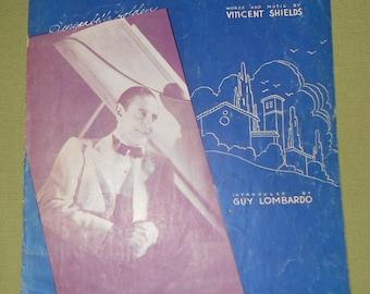 1933 1937 Sheet Music - 2 Pieces ~ I Dream of San Marino & When Sweet Magnolias Bloom Again