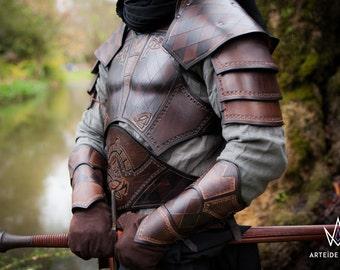 Black leather Armor medieval fantasy