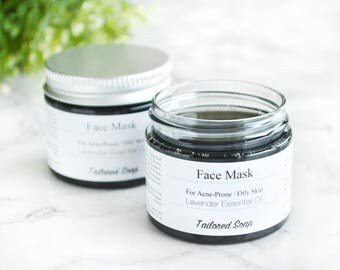 Face Mask - Activated Charcoal Mask - Natural Face Mask - Charcoal Face Mask - Black Face Mask - Acne Treatment Clay Face Mask - Facial Mask