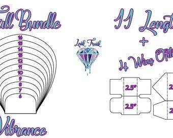 "Vibrance/Full Bundle/Cloth Pad Pattern/2.5"" Snapped Width/Leak Freak Compatible"