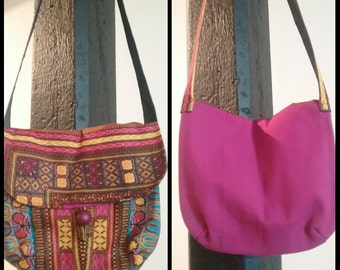 Cross body African print bag.