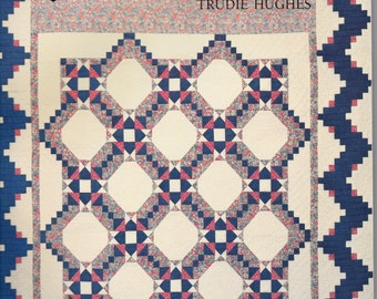 Quilts To Fit Beds Trudie Hughes Pattern Book Rotary Cut Sewing Soft Cover Quilt Pattern Book