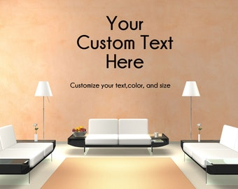 Custom Office or Waiting Room Business Wall Decal Personalized Text Wall Decal Custom Made Customize Size Color and Font