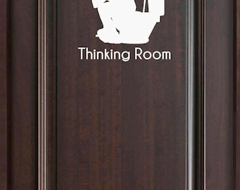 Thinking Room Funny Bathroom Door Decal Customize Color Customized Door Decals and more & Poop Emoji Bathroom Door Decal Customized Door Decals and more Pezcame.Com