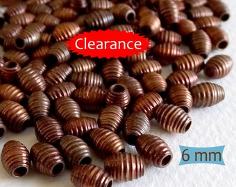Copper Coil Oval Spacer Beads--10 Pcs | 21-DR102-10