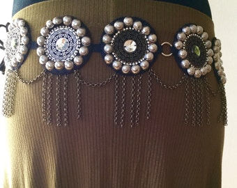 Fusion tribal belt / mandala / tribal fusion belt / handmade / boho / boho chic / belts boho / mandala belt / kuchi
