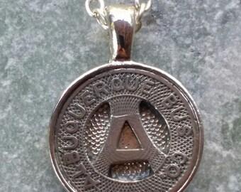 Albuquerque New Mexico Transit Token Pendant Necklace