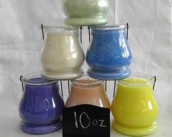 10 oz Soy Candle Lantern Glass, Variety of Scents