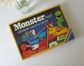 Vintage Children's Board Game called Monster Hunt by Ravensburger 1977