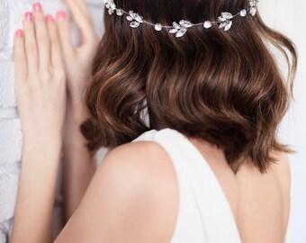 20% OFF-Bridal Headband, Wedding Rhinestone Hair Halo, Crystal Bridal Hair Vine, Wedding Hair Piece, Crystal Wedding Headband,Boho Hairpiece