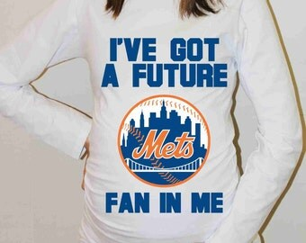 New York Mets Shirt New York Mets Baseball Long Sleeve Maternity Shirt Pregnancy Baby Shower