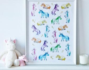 Magic Ponies - A3 Print