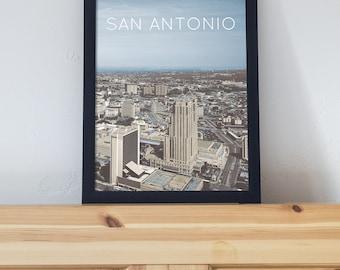 San Antonio, TX Poster 11x17 18x24 24x36