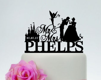 Disney wedding cake topper | Etsy