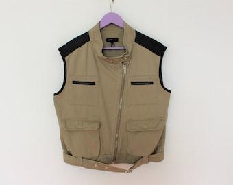 Brown Vest Quality Gardener Hunter Vest  Shooting Vest Sleevless Jacket Country Comfortable Fisherman  Waistcoat Size Medium
