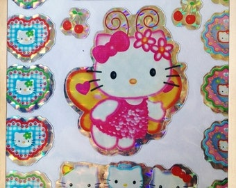 Hello Kitty Japanese Animation Packet Of 23 Prism Stickers Scrapbooking Decoration Craft