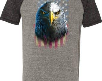 Men's Eagle Stare Tri Blend Tee T-Shirt 20412D0-M1101