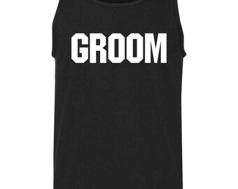 Groom Bachelor Party Mens Tank Top T-Shirt