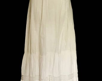 1880's Antique Ladies Cotton Slip         VG299