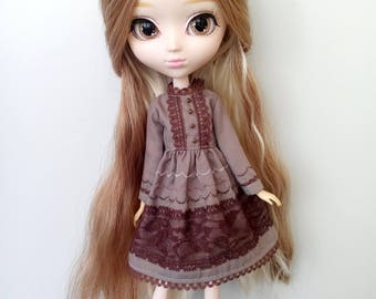 Mori Times Brown Drees for pullip blythe azone momoko obitsu and similar dolls